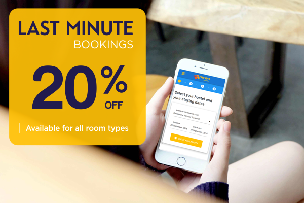 Last Minute Bookings - 20% Off