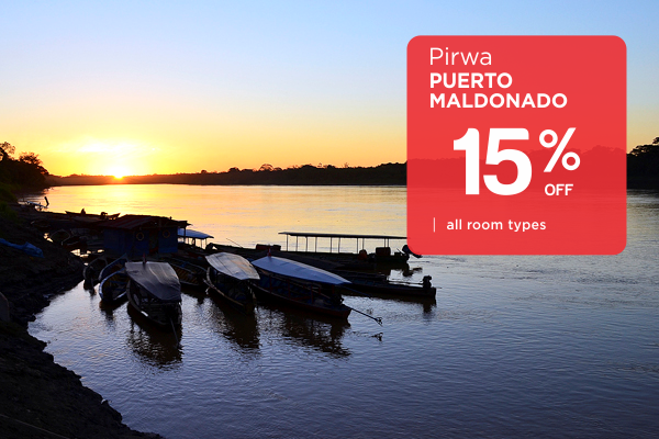 Promotion of 15% Off All Rooms at Pirwa Maldonado