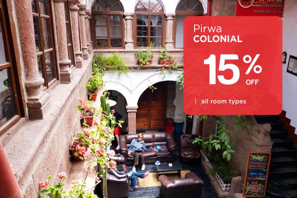 15% Off any rooms in Pirwa Colonial