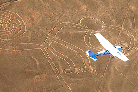 Half hour flight over the Nazca Lines