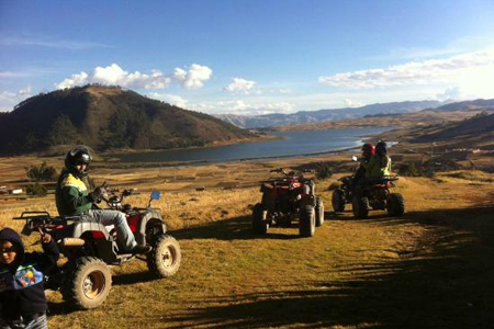 ATV´s on Lakes Huaypo And Piuray